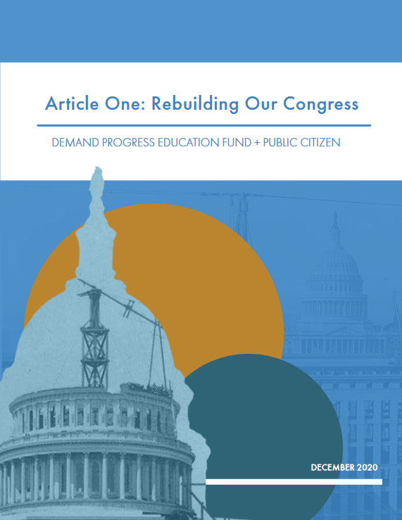 New Report: Article One: Rebuilding Our Congress